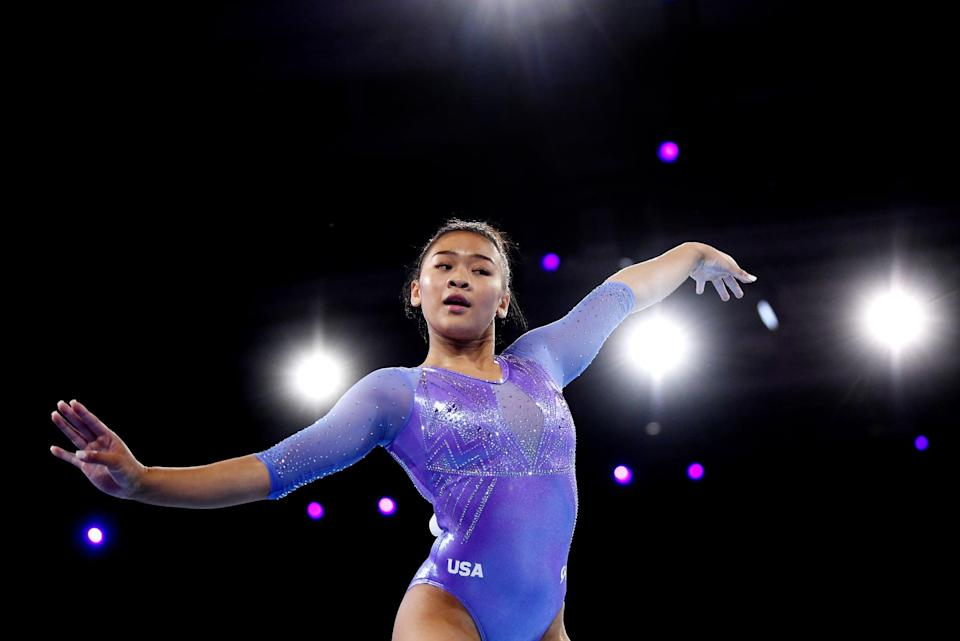 """<p>""""<a href=""""http://www.twincities.com/2019/08/13/st-paul-gymnast-sunisa-lee-sets-sights-on-2020-olympics-and-chasing-down-simone-biles/"""" class=""""link rapid-noclick-resp"""" rel=""""nofollow noopener"""" target=""""_blank"""" data-ylk=""""slk:It just came natural to me"""">It just came natural to me</a>,"""" Lee told the <strong>St. Paul Pioneer Press</strong> following nationals in 2019. """"I don't really know how to explain it. I was always jumping on the bed or having my dad spot me while I was doing backflips and stuff like that. Finally, my mom got tired of it, and she knew a friend that was friends with someone at Midwest Gymnastics. That's kind of how I got my start.""""</p>"""