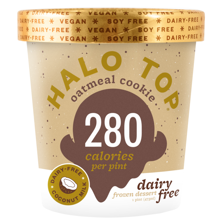 """<p>The (low-key super pretty) non-dairy pints from Halo Top come in fun, delish flavors like Pancakes and Waffles or Peanut Butter and Jelly. All their milk-free pints are vegan and soy-free and made with coconut milk.</p><p><em>Our choice: Dairy-Free Oatmeal Cookie </em></p><p><a class=""""link rapid-noclick-resp"""" href=""""https://www.amazon.com/Halo-Top-Dairy-Free-Oatmeal-Cookie/dp/B07G8QV64L/ref=sr_1_fkmrnull_1?crid=1YL7M186EFV1O&keywords=halo%2Btop%2Boatmeal%2Bcookie&qid=1555530361&s=gateway&sprefix=halo%2Btop%2Boatmeal%2B%2Caps%2C120&sr=8-1-fkmrnull&th=1&tag=syn-yahoo-20&ascsubtag=%5Bartid%7C10063.g.35000975%5Bsrc%7Cyahoo-us"""" rel=""""nofollow noopener"""" target=""""_blank"""" data-ylk=""""slk:BUY NOW"""">BUY NOW</a></p>"""