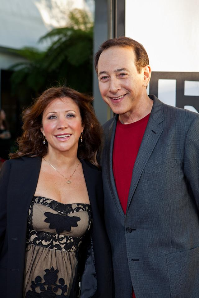 "Cheri Oteri and Paul Reubens attend HBO's ""True Blood"" Season 5 Los Angeles premiere at ArcLight Cinemas Cinerama Dome on May 30, 2012 in Hollywood, California."