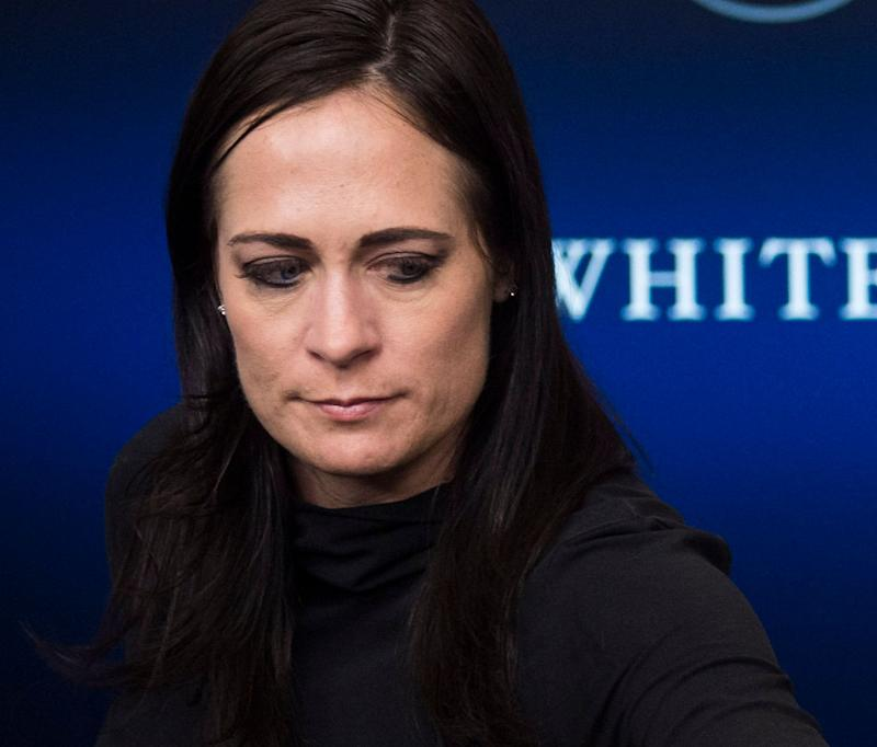 Stephanie Grisham, press secretary for first lady Melania Trump, received a warning for a tweet that the Office of Special Counsel said violated the Hatch Act. (Photo: The Washington Post via Getty Images)
