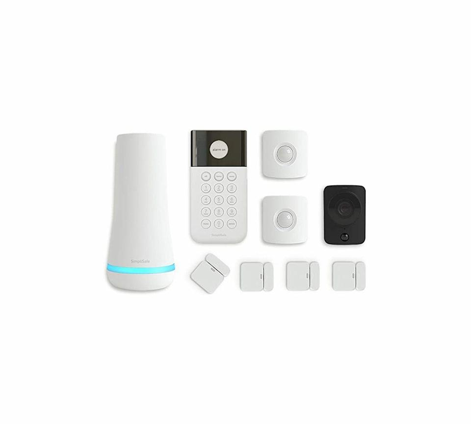 """<p><strong>SimpliSafe</strong></p><p>amazon.com</p><p><strong>$239.99</strong></p><p><a href=""""https://www.amazon.com/dp/B07GXW7KR6?tag=syn-yahoo-20&ascsubtag=%5Bartid%7C10060.g.37002628%5Bsrc%7Cyahoo-us"""" rel=""""nofollow noopener"""" target=""""_blank"""" data-ylk=""""slk:Shop Now"""" class=""""link rapid-noclick-resp"""">Shop Now</a></p><p>This repeat winner remains our choice for home security systems because it is easy to install and set up, doesn't cost a lot, and the company offers great monitoring and customer service. During installation of our test unit, when small questions popped up on how to wire the doorbell and configure the smart lock, SimpliSafe quickly resolved them. The Essentials kit contains several core pieces for basic security: the SimpliSafe base, a keypad, two motion detectors, a camera, and four entry sensors. Additional sensors, cameras, locks, even flood and CO2 monitors are cheap, easy to purchase online or at retailers like Best Buy, and a snap to install. Plus, everything integrates into Amazon and Google smart-home systems.</p>"""