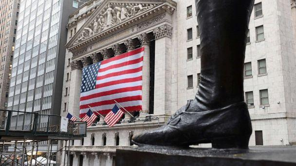 PHOTO: A view of New York Stock Exchange, Wall Street, March 23, 2020, in New York City. (Angela Weiss/AFP via Getty Images)