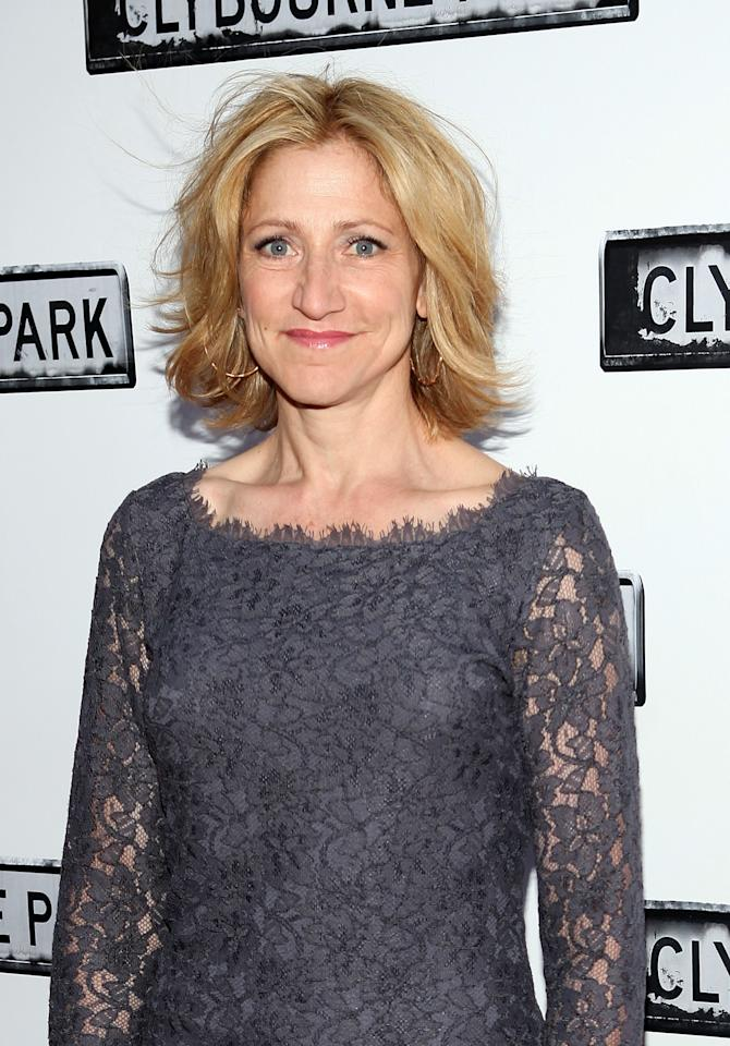"NEW YORK, NY - APRIL 19:  Edie Falco attends the ""Clybourne Park"" Broadway opening night at Walter Kerr Theatre on April 19, 2012 in New York City.  (Photo by Robin Marchant/Getty Images)"