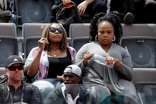 Tennis - WTA Premier 5 - Italian Open - Foro Italico, Rome, Italy - May 17, 2018 Oracene Price, mother of Venus Williams of the U.S, looks on during her daughters third round match against Estonia's Anett Kontaveit REUTERS/Max Rossi