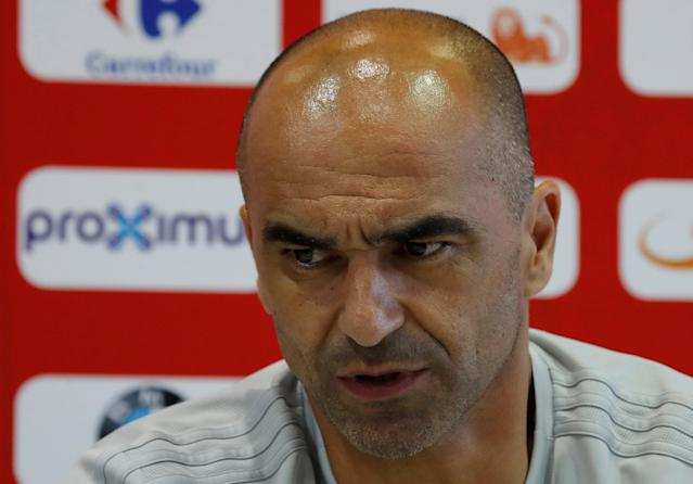 Soccer Football - World Cup - Belgium News Conference - Guchkovo Sports Complex, Moscow Region, Russia - June 25, 2018. Belgium's coach Roberto Martinez during news conference. REUTERS/Sergei Karpukhin