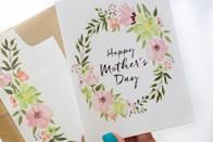 "<p>This simple but beautiful printable card channels the spirit of the holiday and the floral theme of the spring season. A win-win.</p><p><em><strong>Get the printable at <a href=""https://www.tinselbox.com/free-printable-mothers-day-cards/"" rel=""nofollow noopener"" target=""_blank"" data-ylk=""slk:Tinsel Box"" class=""link rapid-noclick-resp"">Tinsel Box</a>.</strong></em></p>"