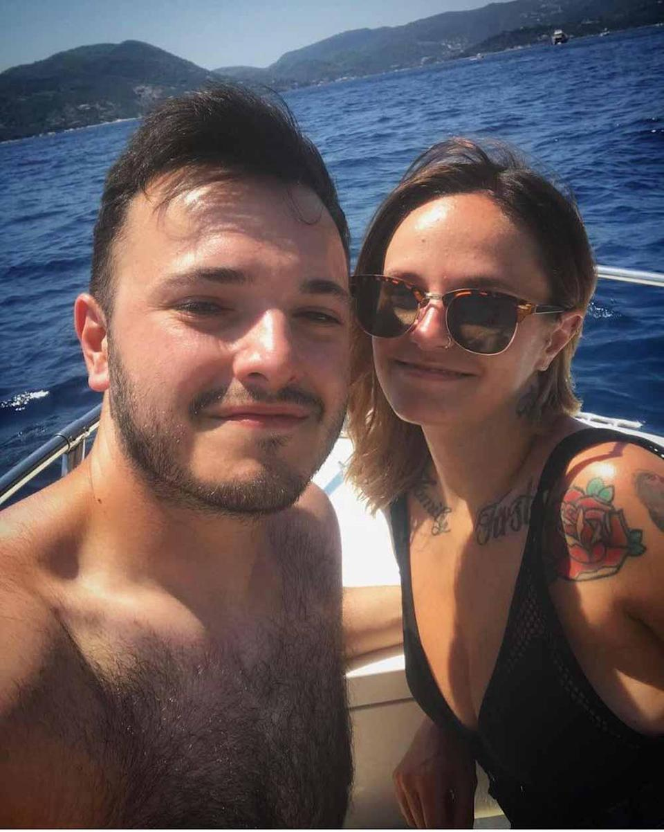 Kerrie with her boyfriend Danny in Zante in 2019. PA REAL LIFE/ COLLECT