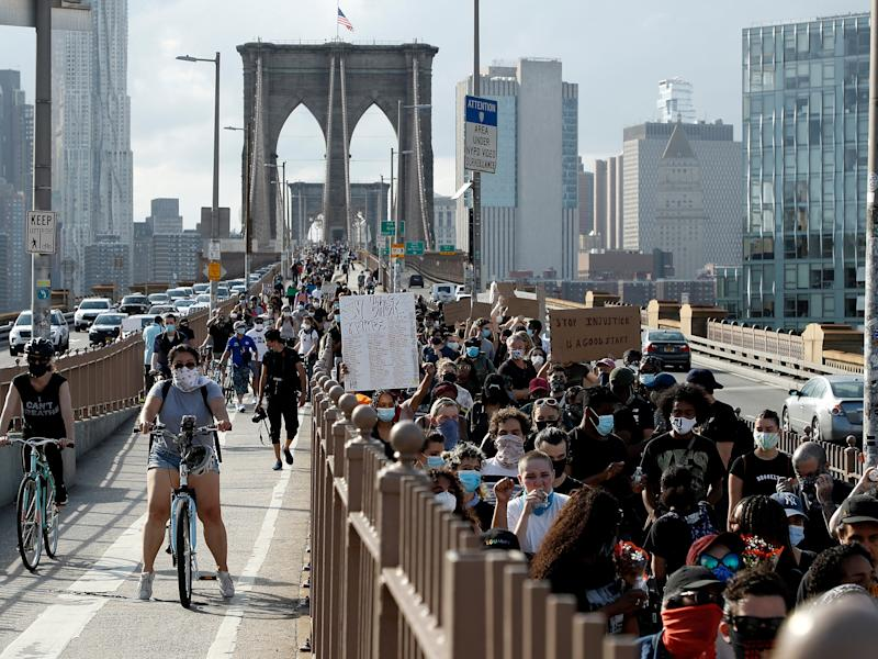 george floyd protests brooklyn bridge