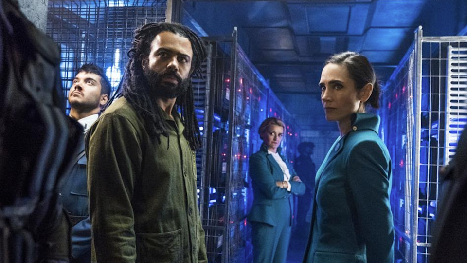 Daveed Diggs plays Andre Layton and Jennifer Connelly in Netflix Sci Fi film snowpiercer