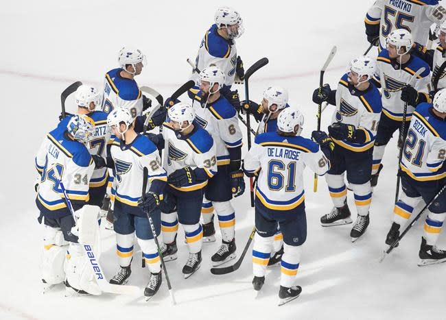 O'Reilly scores twice, Blues beat Canucks 3-1 to tie NHL playoff series