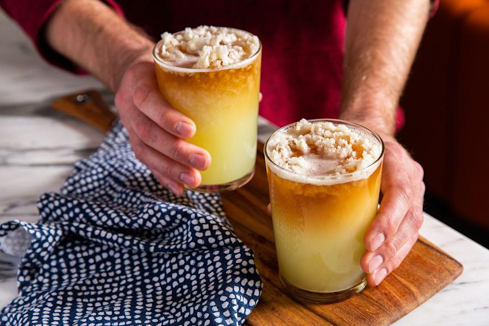 """<p>The grown-up slushie we all need. <br></p><p>Get the recipe from <a href=""""https://www.delish.com/cooking/recipe-ideas/recipes/a46973/frozen-dark-stormy-drink-recipe/"""" rel=""""nofollow noopener"""" target=""""_blank"""" data-ylk=""""slk:Delish"""" class=""""link rapid-noclick-resp"""">Delish</a>.</p>"""