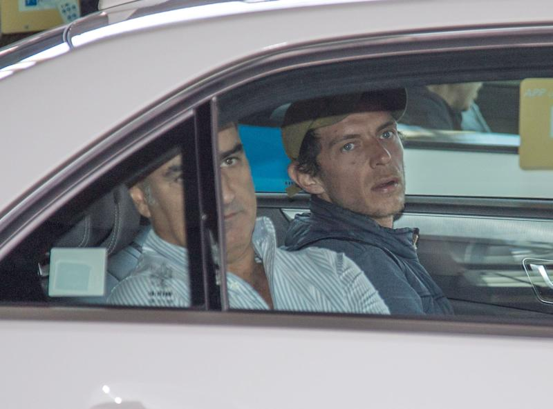MADRID, SPAIN - SEPTEMBER 09: Camilo Sesto's son, Camilo Blanes Ornelas (R), arrives in Madrid to attend his father's funeral on September 09, 2019 in Madrid, Spain. (Photo by Europa Press Entertainment/Europa Press via Getty Images)