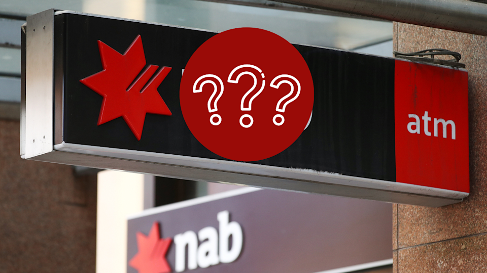 Image of NAB ATM sign with question mark on logo