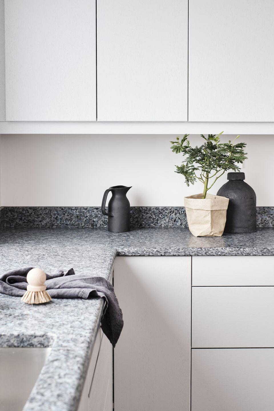 """<p>Countertops are one of the hardest-working elements of a kitchen. If yours is looking a little tired, a new one can bring a whole new look – it's a great chance to introduce a completely different material.</p><p>Pictured: Royal worktop, from £680/sq m, <a href=""""https://lundhsrealstone.com/uk"""" rel=""""nofollow noopener"""" target=""""_blank"""" data-ylk=""""slk:Lundhs"""" class=""""link rapid-noclick-resp"""">Lundhs</a></p>"""