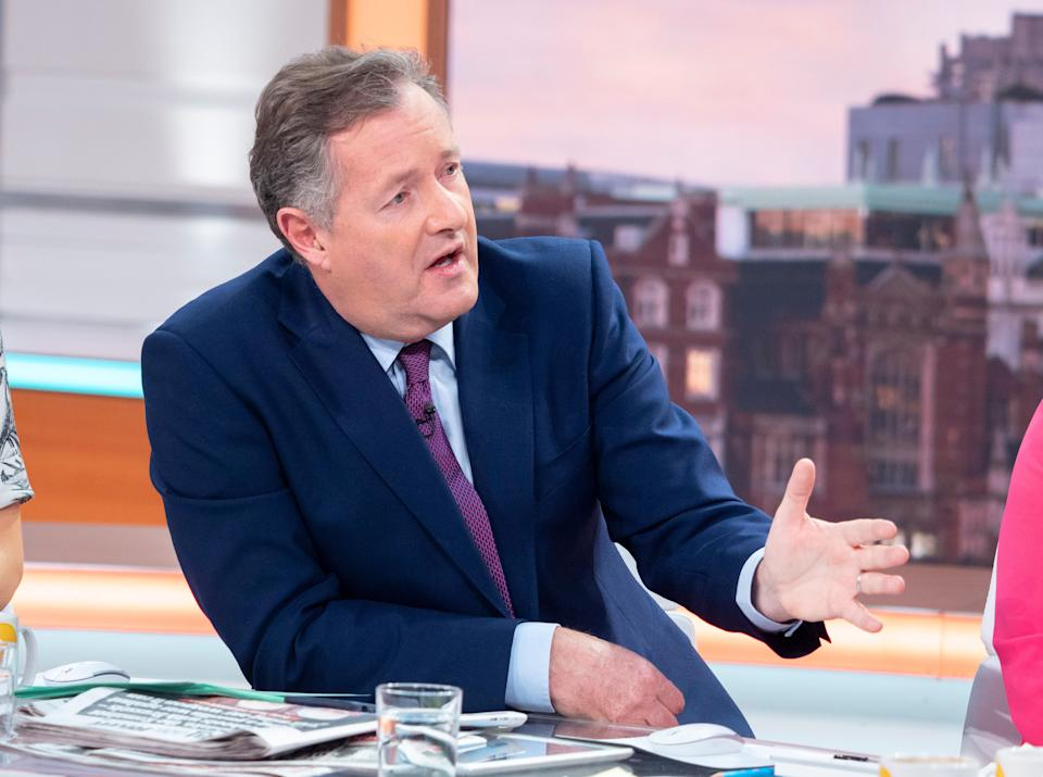 Piers Morgan defended Captain Tom on GMB. (ITV)