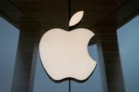 FILE PHOTO: The Apple logo is seen at an Apple Store in Brooklyn, New York