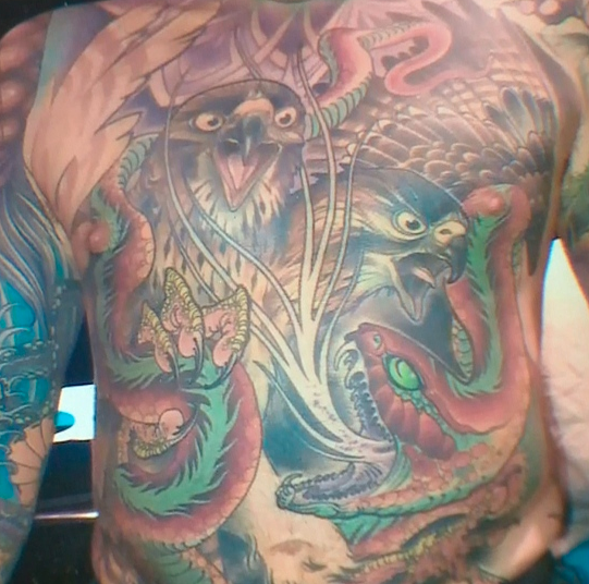 Chris Wenzel's body was covered in tattoos. Now, his family are spending thousands of dollars to have them preserved after his death. Image via CTV News Saskatoon.