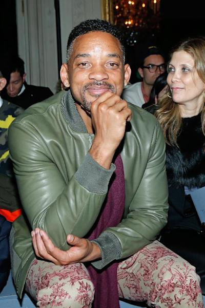 Actor Will Smith attends the Valentino's men's Fall-Winter 2014-2015 fashion collection, presented Wednesday, Jan. 15, 2014 in Paris. (AP Photo/Jacques Brinon)