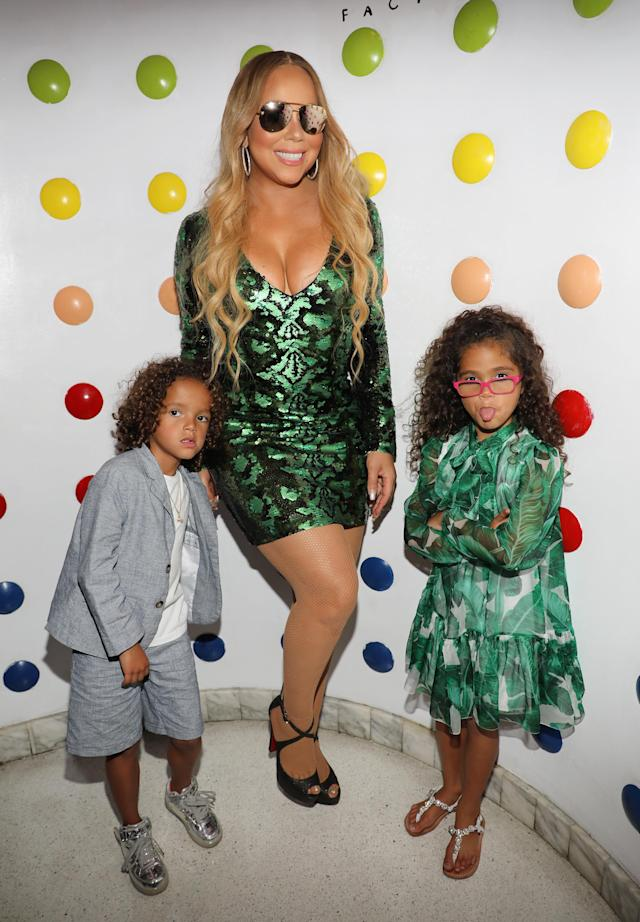 Mariah Carey and her twins. (Photo: Getty Images)