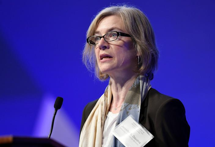 Dr. Jennifer Doudna of the University of California-Berkeley earned a share of this year's Nobel Prize in chemistry for her pioneering work in CRISPR technology.
