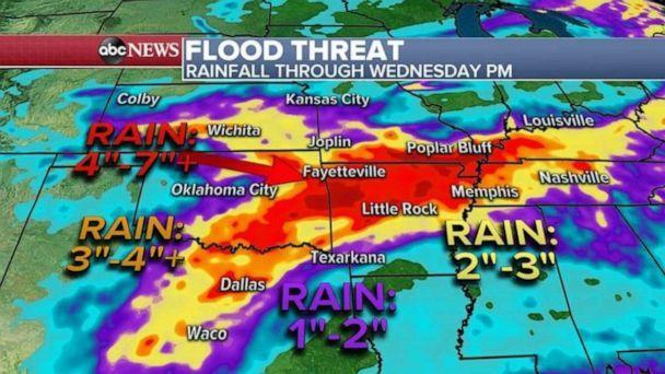 PHOTO: A new system will develop in the southern Plains. This will be the beginning of a rather unsettled period for parts of southern Plains and mid-south. (ABC News)