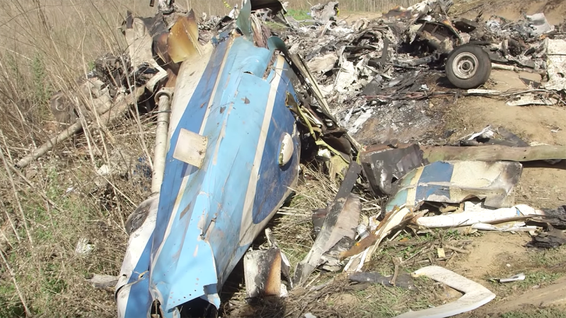 Footage of the crash site, released by the National Transport Safety Bureau.