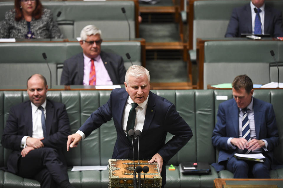 Australian Deputy Prime Minister Michael McCormack speaks during House of Representatives Question Time. Source: AAP