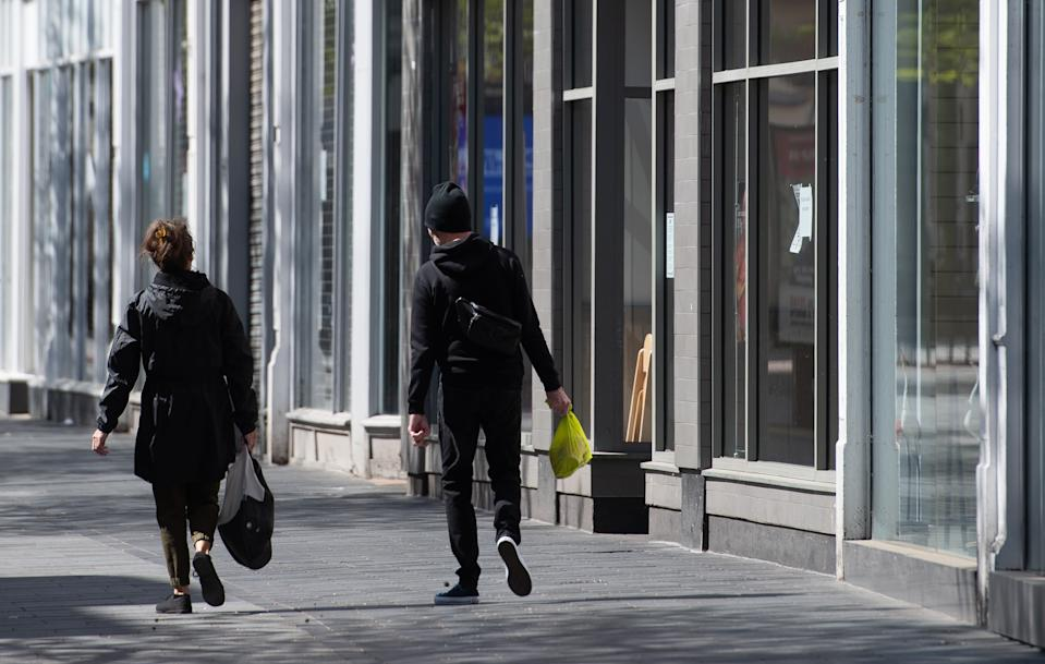 Empty streets in Leicester as the UK continues in lockdown to help curb the spread of the coronavirus. (Photo by Joe Giddens/PA Images via Getty Images)