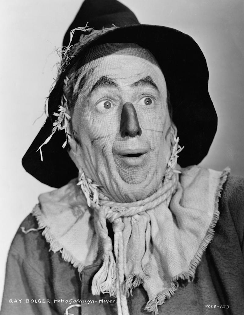 Ray Bolger plays the Scarecrow in the 1939 movie The Wizard of Oz. (Photo by �� John Springer Collection/CORBIS/Corbis via Getty Images)