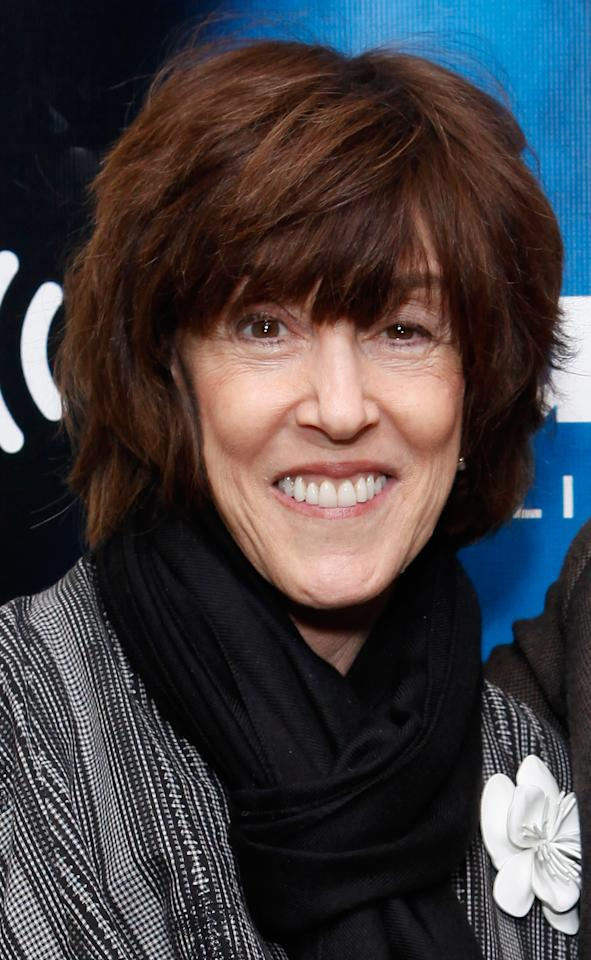 """NEW YORK, NY - APRIL 11:  Director Nora Ephron visits SiriusXM's """"The wowOwow Radio Show"""" at SiriusXM Studio on April 11, 2012 in New York City.  (Photo by Cindy Ord/Getty Images)"""