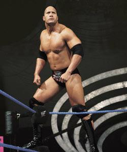 'The Rock' in his wrestling days Everett Collection