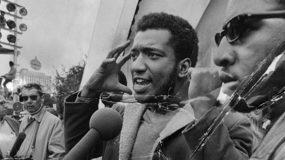 Fred Hampton speaks at a rally in Chicago's Grant Park in September 1969. (Credit: Chicago Tribune file photo/Tribune News Service via Getty Images)