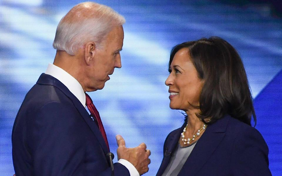 Biden's decision to choose Harris will not please the left wing of the Democratic party - GETTY IMAGES