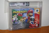 """<p>One of Nintendo's most beloved games (we all wanted to be Yoshi), mint condition <a href=""""https://go.redirectingat.com?id=74968X1596630&url=http%3A%2F%2Fwww.ebay.com%2Fitm%2FMario-Kart-64-Nintendo-64-N64-NEW-SEALED-FIRST-PRINT-MINT-VGA-85-RARE-%2F152018913798%3Fhash%3Ditem2365088a06%253Ag%253Auq8AAOSwUuFWwoaU&sref=https%3A%2F%2Fwww.countryliving.com%2Fshopping%2Fantiques%2Fg3141%2Fmost-valuable-toys-from-childhood%2F"""" rel=""""nofollow noopener"""" target=""""_blank"""" data-ylk=""""slk:vintage cartridges of Mario Kart 64"""" class=""""link rapid-noclick-resp"""">vintage cartridges of Mario Kart 64</a> can now sell for about $750.</p>"""