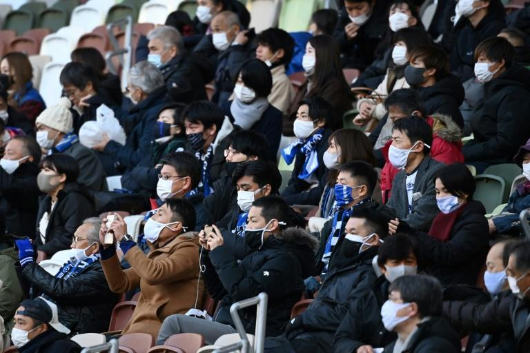 Spectators wore masks at this month's Emperor's Cup football final in Tokyo