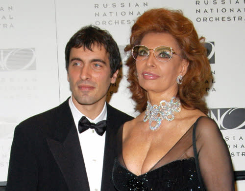 """<p>Carlo Ponti Jr., named after the famed Italian producer (whose most notable project may be """"Doctor Zhivago""""), is the elder son of the ravishing Sophia Loren. Both her Oscar nominations were for her Italian films (""""La ciociara"""" and """"Matrimonio all'italiana""""), and she received an Honorary Award in 1991. Ponti Jr. worked as an associate conductor of the Russian National Orchestra and has two recordings with the group. (Photo by Desiree Navarro/FilmMagic) </p>"""