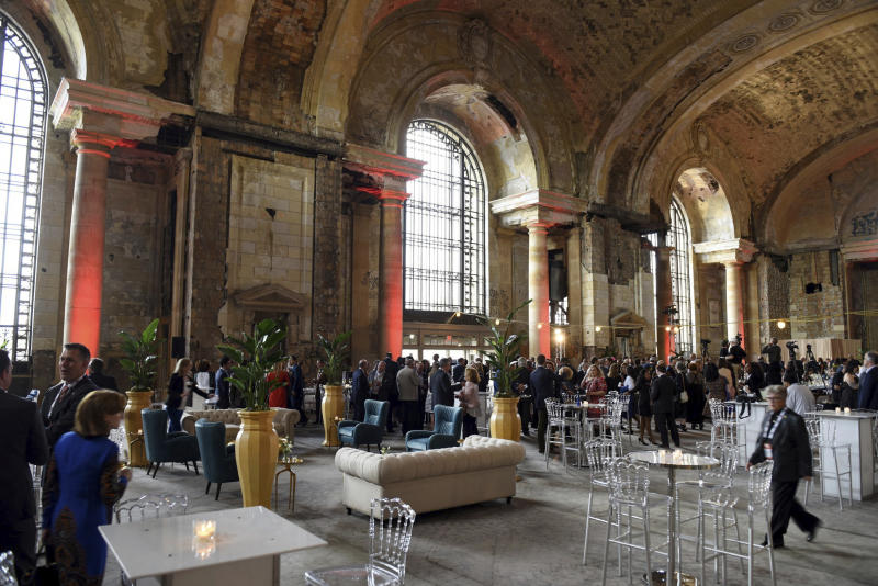 Vacant for decades, Detroit's train station may get new life