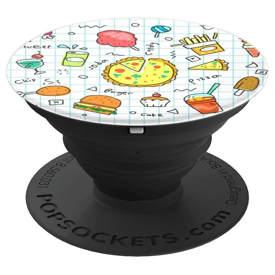 <p>This <span> Cute Food Doodle PopSocket </span> ($15) features some super delicious foods.</p>