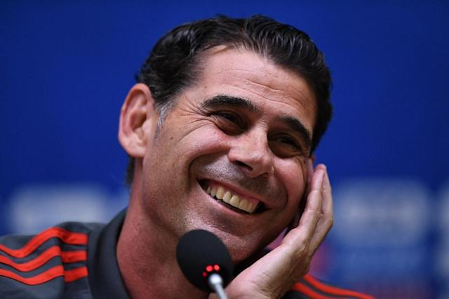 Spain coach Hierro has urged his players not to take Morocco lightly (AFP Photo/OZAN KOSE)