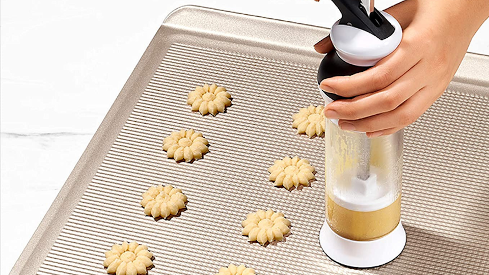 Gifts for bakers: OXO Good Grips 14-Piece Cookie Press Set