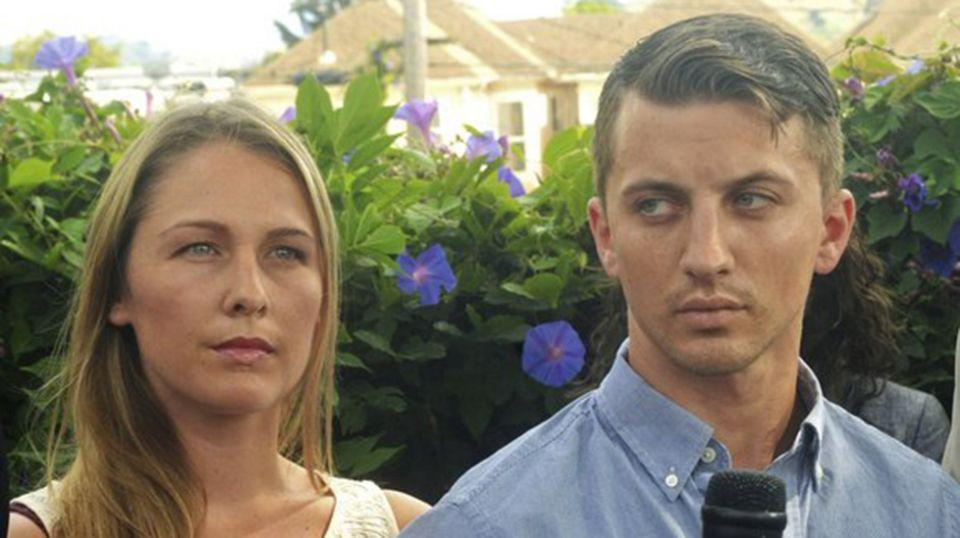 Denise Huskins and her boyfriend Aaron Quinn (pictured in 2015) have reached a $3.2 million settlement after they were accused of faking Ms Huskin's kidnapping. Source: AP