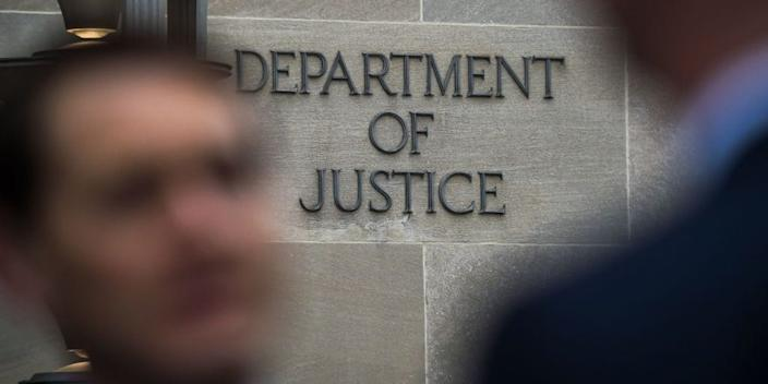 """The Department of Justice. <p class=""""copyright"""">CHANDAN KHANNA/AFP via Getty Images</p>"""