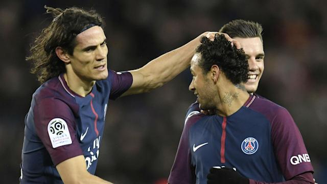 The Uruguayan was prevented from becoming the Ligue 1 side's leading scorer on Wednesday by his Brazilian team-mate