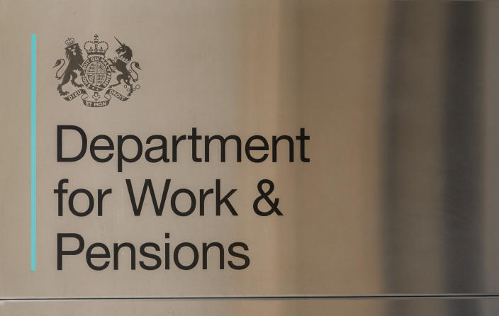 Department for Work & Pensions seen at Caxton House Community Centre in London. (Dave Rushen/SOPA Images/Sipa USA)
