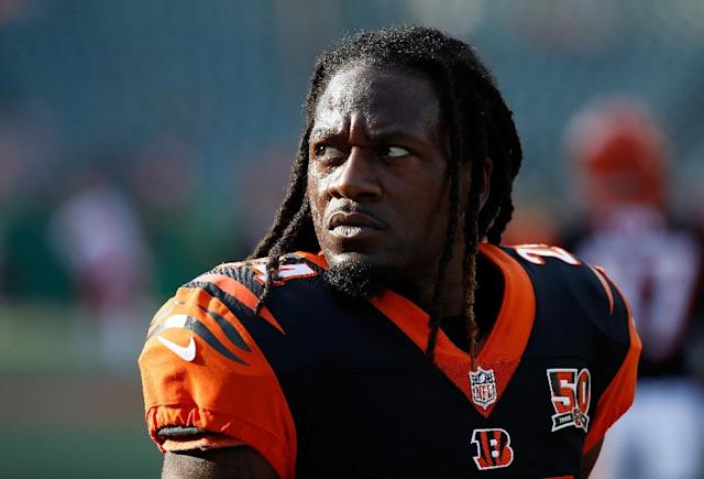 "Adam ""Pacman"" Jones, seen here on August 19, 2017, has announced his retirement from the NFL after 12 seasons shadowed by off-field turbulence (AFP Photo/ANDY LYONS)"