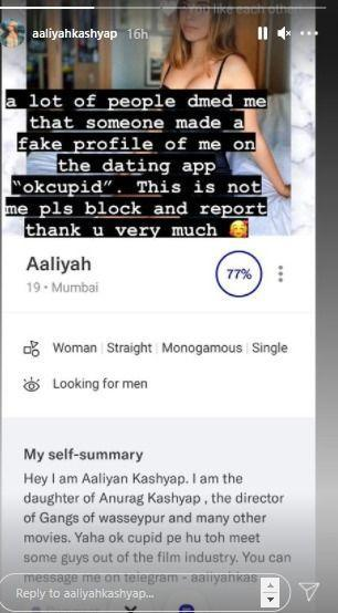 Anurag Kashyap S Daughter Aaliyah Is On A Dating App The Youth Influencer Reveals The Truth
