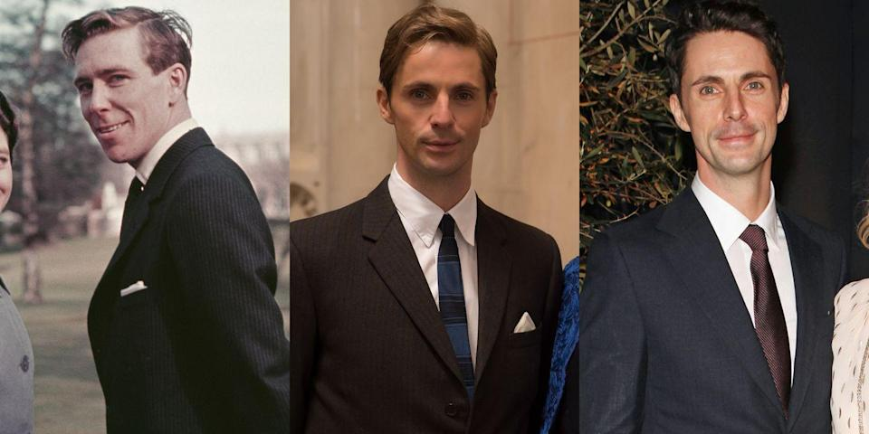 <p>First Lady Mary, now Princess Margaret. <em>Downton Abbey</em> alum Matthew Goode plays photographer Antony Armstrong-Jones, husband of the princess, in Season 2 of <em>The Crown</em>.</p>