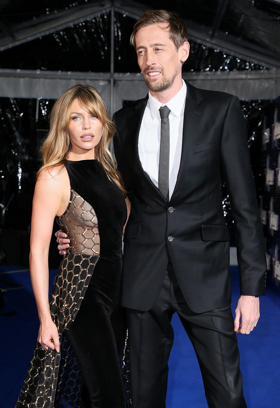 Abbey Clancy and Peter Crouch attends The Global Awards, a brand new awards show hosted by Global, the Media & Entertainment group, at London's Eventim Apollo Hammersmith. PRESS ASSOCIATION Photo. Picture date: Thursday March 1, 2018. See PA story SHOWBIZ Global. Photo credit should read: Joel Ryan/PA Wire