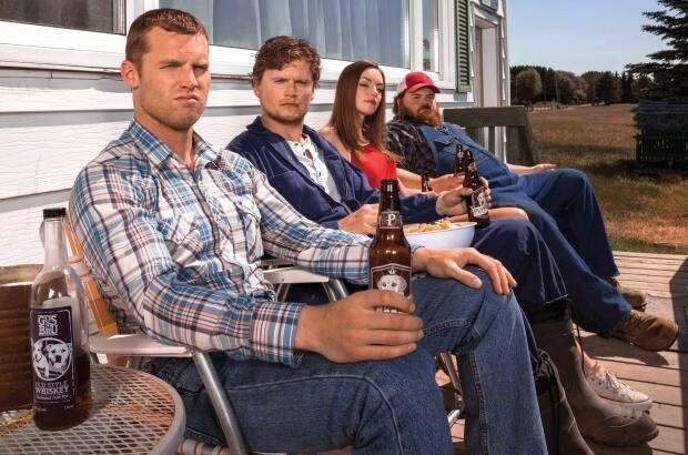 Michelle Mylett, seen here third from left with her male co-stars on the hit Canadian show Letterkenney, is from southern Vancouver Island and can be seen in the upcoming dark Netflix comedy film, American Dreamer, which was recently shot in Victoria.