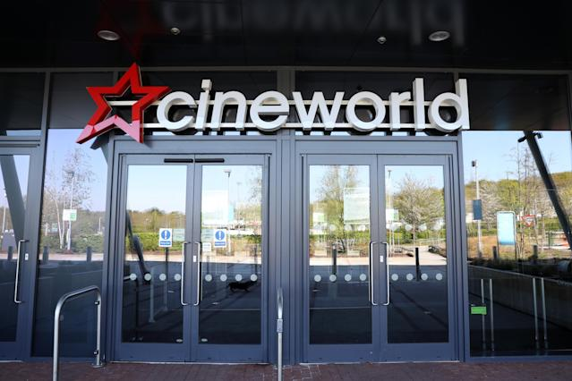 A Cineworld cinema is seen closed due to the current coronavirus (COVID-19) pandemic. Photo: Naomi Baker/Getty Images
